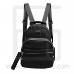 Nano fiber fabrics Backpack, 3 small pockets-Black