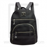 Nano fiber fabrics Backpack, horizontal line zipper-Black