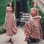 🎀 Lady Ribbon's Made 🎀 Lady Sonia Country Girl Printed Cotton Smock Dress