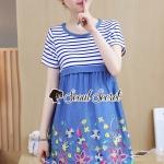 Seoul Secret Say's... Gene Streak Lace Colorful Dress