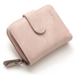 กระเป๋าสตางค์ ใบสั้น สีครีม รุ่น Beauty Girl mini