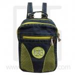 Jeans Denim Backpack, graphics pattern1, Medium Size, Green