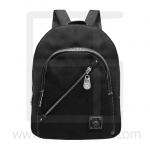 Nano fiber fabrics Backpack, oblique line zipper