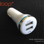 หัวชาร์จในรถยนต์ ELOOP Dual USB 2.1A/1A.