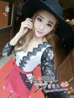 เสื้อผ้าแฟชั่นเกาหลี Lady Ribbon's Made Lady Lizzy Sassy Sultry Set