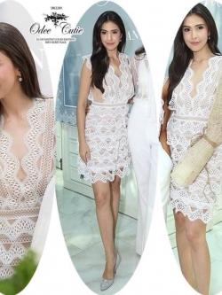 Lace frill mini dress ♡Odee&Cutie Daily Fashion 2017