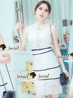 Seoul Secret Say's .... Lacely Portrait Princess Ivory Dress