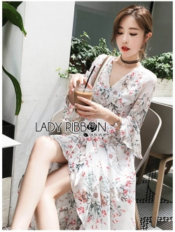 🎀 Lady Ribbon's Made 🎀 Lady Analia Summer Chillax Flower Printed Frilled Dress