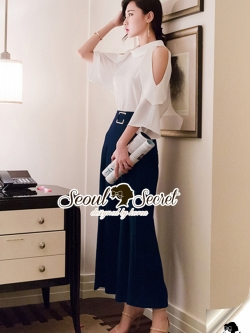 Seoul Secret Say's .... Lovely Open Shoulder Pants Set