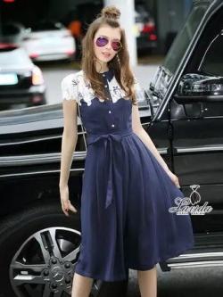 Korea Design By Lavida shiny bird embroidered fashionista denim pants set code1666