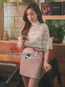 เสื้อผ้าแฟชั่นเกาหลี Lady Ribbon Thailand Lady Ribbon's Made Lady bella Modern Vintage Lace Blouse
