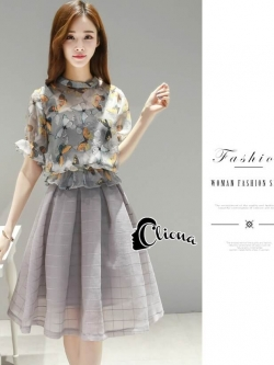 Clioana Made' Silver Grey(butterfly)Butterly Luxury Set Dress
