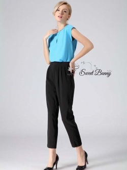 Embellished halter neck top and tall cigarette trousers set by Sweet Bunny