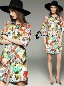 Cliona made' Inca Jungle Shirt Dress Export Grade-Mini Dress