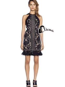 Cliona made' Lady Angel Extra Luxury Black Lace Dress