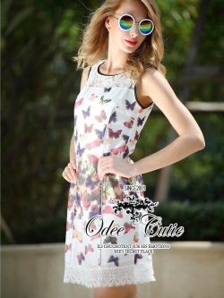 &#x2654Casual printed mini dress&#x2654 &#x2661Odee&Cutie Daily Fashion 2016&#x2661