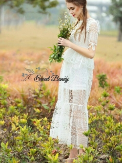 Sweet Bunny Present... Eedem Spring lace maxi dress