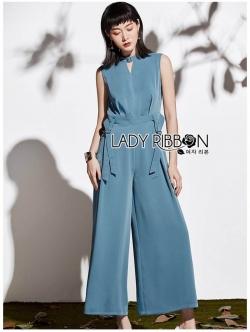 เสื้อผ้าแฟชั่นเกาหลี Lady Ribbon's Made Lady Claire Smart Minimal Belted Jumpsuit