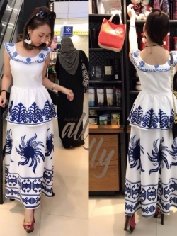 เสื้อผ้าแฟชั่นเกาหลี New Arrival .. Don't Miss! Normal Ally Present Dolce&Gabbana maxi dress new collcetion