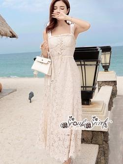 เสื้อผ้าแฟชั่นเกาหลี Lady Ribbon Thailand Seoul Secret Say'...Present Elegance Lace Collection Dress