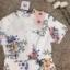เสื้อผ้าแฟชั่นเกาหลี Normal Ally Present Spring print and 3D flower playsuit by K.S brand thumbnail 7