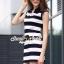 Seoul Secret Say's... Stripy chic chilly dress thumbnail 3