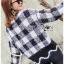 เสื้อผ้าแฟชั่นเกาหลี Lady Ribbon's Made Lady Cecil Tartan Weaves Knit Sweater thumbnail 9