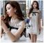 🎀 Lady Ribbon's Made 🎀 Lady Rika Feminine Pearl Embellished White Lace Dress thumbnail 1