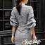 เสื้อผ้าแฟชั่นเกาหลี Lady Ribbon Thailand Seoul Secret Say's...Dress Scott Gray Style Working Woman thumbnail 3