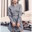 เสื้อผ้าแฟชั่นเกาหลี Lady Ribbon's Made Lady Smart Chic Twist Ribbon Shirt Dress thumbnail 2