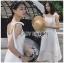 เสื้อผ้าแฟชั่นเกาหลี Lady Ribbon's Made Lady Kiera Holiday Bliss Ribbon Strap Embroidered White Linen Dress thumbnail 2