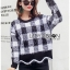เสื้อผ้าแฟชั่นเกาหลี Lady Ribbon's Made Lady Cecil Tartan Weaves Knit Sweater thumbnail 11