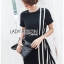 🎀 Lady Ribbon's Made 🎀 Lady Andra Plain and Striped Asymmetric Black Dress thumbnail 2