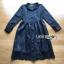 เสื้อผ้าแฟชั่นเกาหลี Lady Ribbon's Made Lady Charlie Sweet Minimal Chic Insert Lace Shirt Dress thumbnail 4
