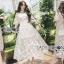 เสื้อผ้าแฟชั่นเกาหลี Lady Ribbon's Made Lady Natalie Little Princess High-Neck White Lace Long Dress thumbnail 1