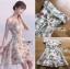 เสื้อผ้าแฟชั่นเกาหลี Lady Ribbon's Made Lady Erin Off-Shoulder Pink Flower Embroidered Tulle Mini Dress thumbnail 9