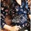 เสื้อผ้าแฟชั่นเกาหลี Lady Ribbon's Made Lady Monica Floral Patterned Printed Wrap Dress thumbnail 2