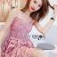 เสื้อผ้าแฟชั่นเกาหลี Lady Ribbon's Made Lady Alisa Baby Pink Guipure Lace Single Dress thumbnail 5