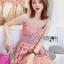 เสื้อผ้าแฟชั่นเกาหลี Lady Ribbon's Made Lady Alisa Baby Pink Guipure Lace Single Dress thumbnail 3