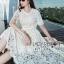 เสื้อผ้าแฟชั่นเกาหลี Lady Ribbon's Made Lady Nasha Sweet Classic White Lace Dress with Belt thumbnail 5