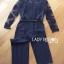 เสื้อผ้าแฟชั่นเกาหลี Lady Ribbon's Made Lady Francesca Smart Casual Vertical Stripes with Inserted Lace Jumpsuit thumbnail 7