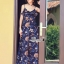 เสื้อผ้าแฟชั่นเกาหลี Lady Ribbon Thailand Korea Design By Lavida Floral printed pretty maxi dress thumbnail 6