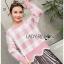 เสื้อผ้าแฟชั่นเกาหลี Lady Ribbon's Made Lady Cecil Tartan Weaves Knit Sweater thumbnail 3