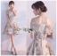 เสื้อผ้าแฟชั่นเกาหลี Lady Ribbon's Made Lady Erin Off-Shoulder Pink Flower Embroidered Tulle Mini Dress thumbnail 5