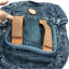 Jeans Denim Backpack, Vintage Style, High Quality, Color 2 lines, Genuine Brand thumbnail 4