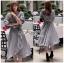 เสื้อผ้าแฟชั่นเกาหลี Lady Ribbon's Made Lady Michell Korean Style Checked Cotton Ruffle Dress thumbnail 2
