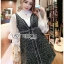 เสื้อผ้าแฟชั่นเกาหลี Lady Ribbon's Made Lady Marie Tweed Dress Over High-Neck Blouse Set thumbnail 6