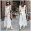 เสื้อผ้าแฟชั่นเกาหลี Lady Ribbon's Made Lady Emma Traveler Minimal Cotton Jumpsuit thumbnail 1