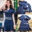 เสื้อผ้าแฟชั่นเกาหลี Lady Ribbon's Made Lady Maria Double-Breasted Ruffle Suit Cotton Dress thumbnail 4