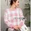 เสื้อผ้าแฟชั่นเกาหลี Lady Ribbon's Made Lady Cecil Tartan Weaves Knit Sweater thumbnail 4